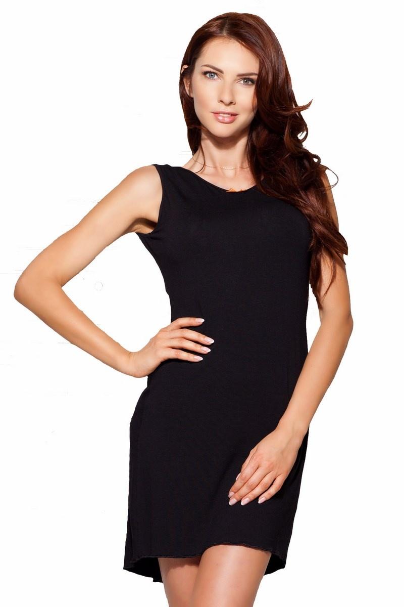 elegantes damen neglig nachthemd in schwarz mit edler spitze. Black Bedroom Furniture Sets. Home Design Ideas