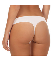 souspy Mikrofaser String Seamless-Classic L/XL weiß