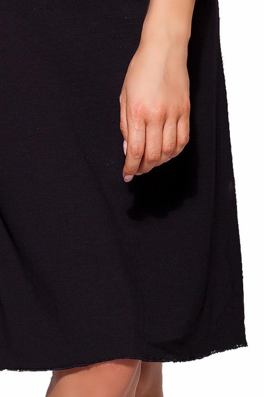 8afa7cc9168455 Elegantes Damen Negligé Nachthemd schwarz mit edler, orangefarbiger S