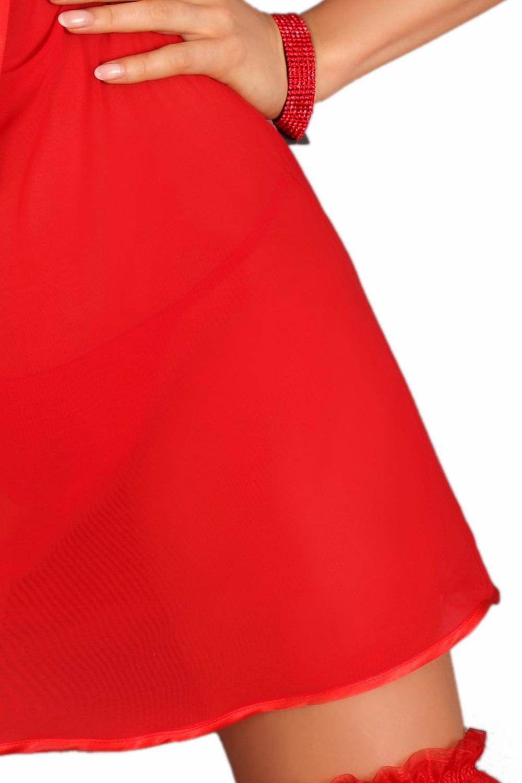 lupoline 110 edles negligee set mit strumpfband rot 42. Black Bedroom Furniture Sets. Home Design Ideas