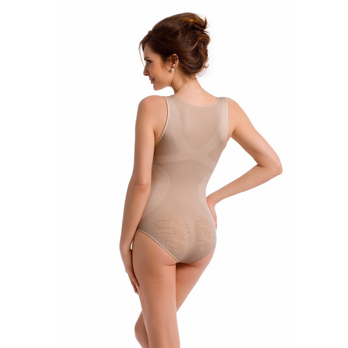 envie® Shapewear Body figurformend, Blumenmuster ecru S