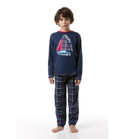 envie Jungen-Pyjama Pacific Team langarm in navy oder...