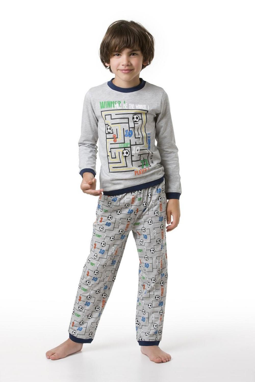 envie jungen pyjama game langarm in grau 98 104. Black Bedroom Furniture Sets. Home Design Ideas