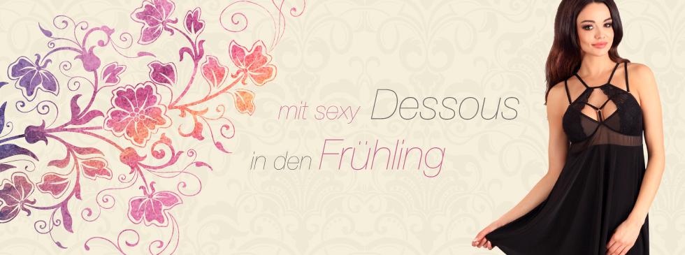 mit sexy Dessous in den Frühling
